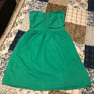 Green strapless sundress with pockets by Gap